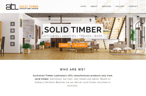 ATL Solid Timber Bench Tops